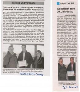 2009-11-14 TLZ, Amtsblatt Katharinenberg